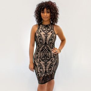 Dresses & Skirts - Lace Overlay Bodycon Dress